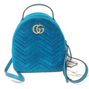 Auth Gucci Marmont GG Velvet Backpack Retail $2100